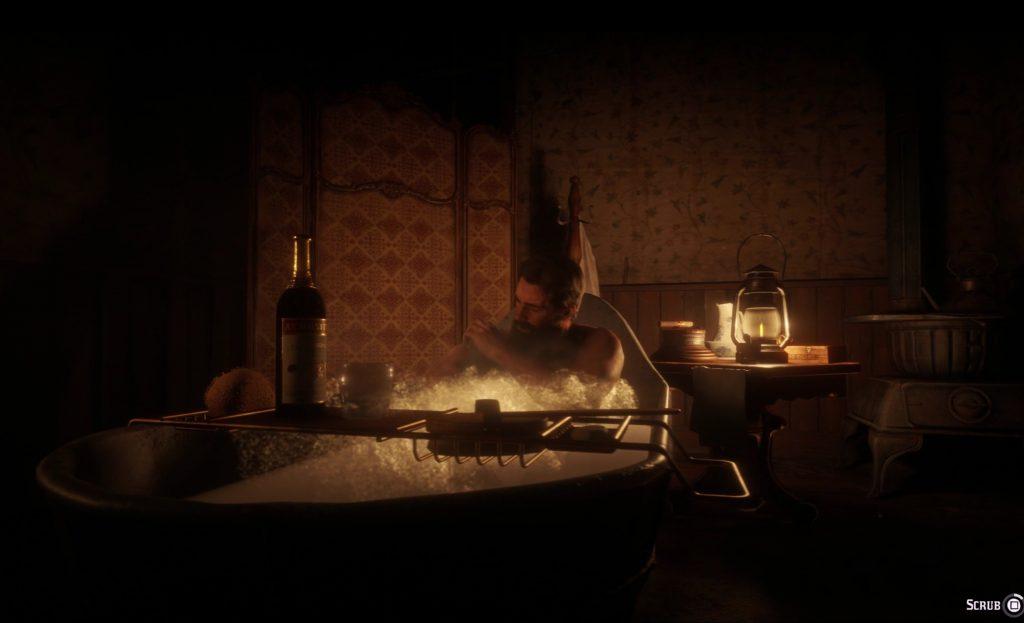 Arthur bathes