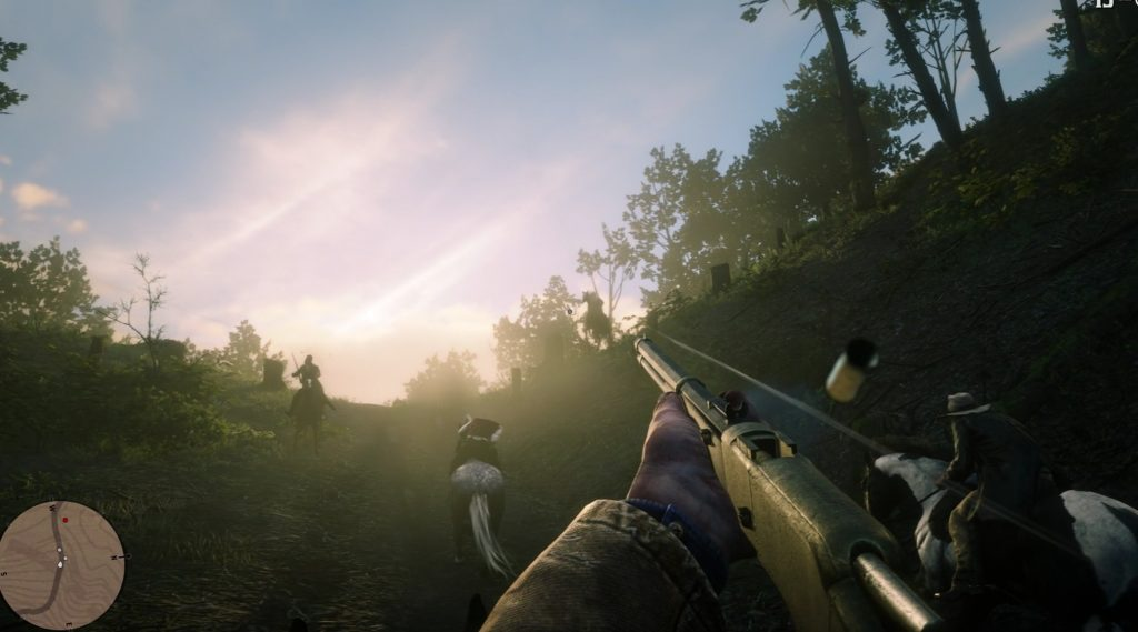 First-person mode