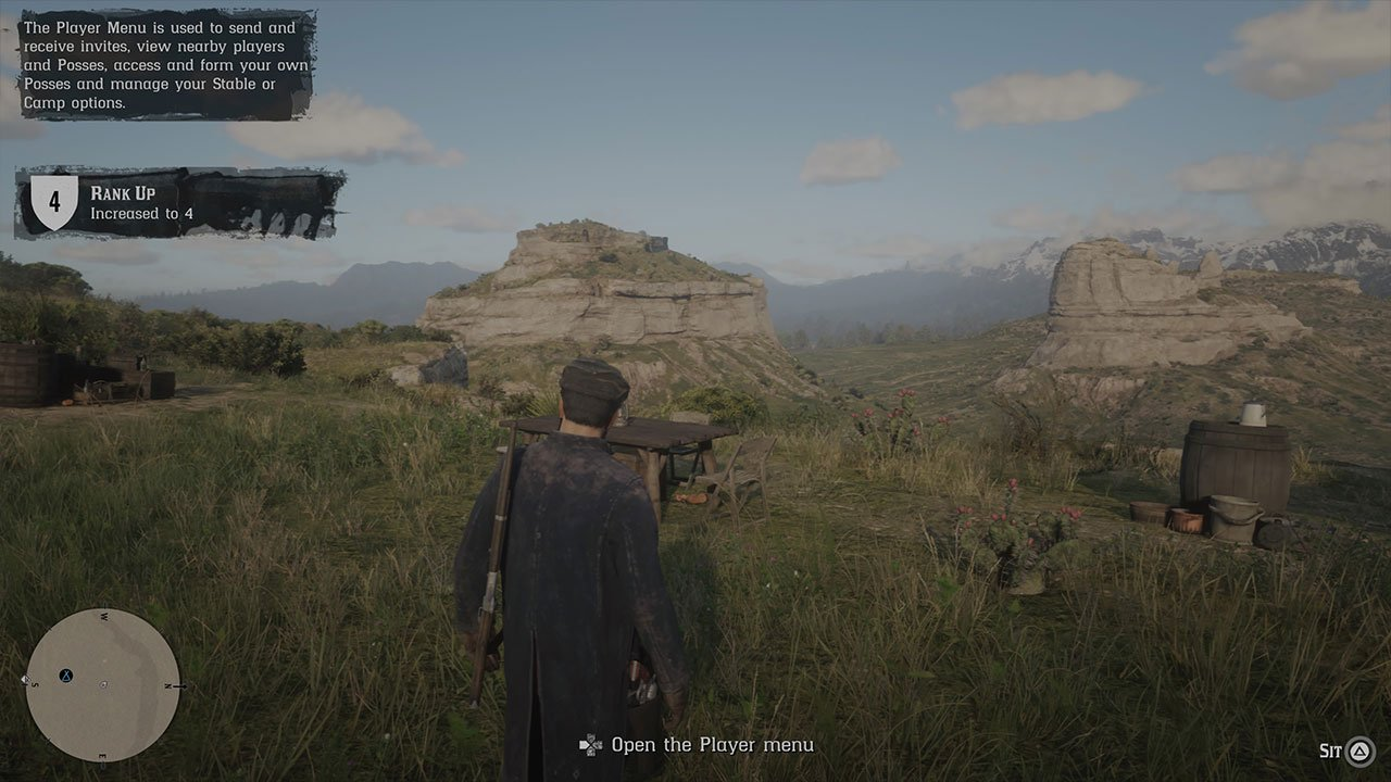 how to open the player menu in red dead redemption 2 online