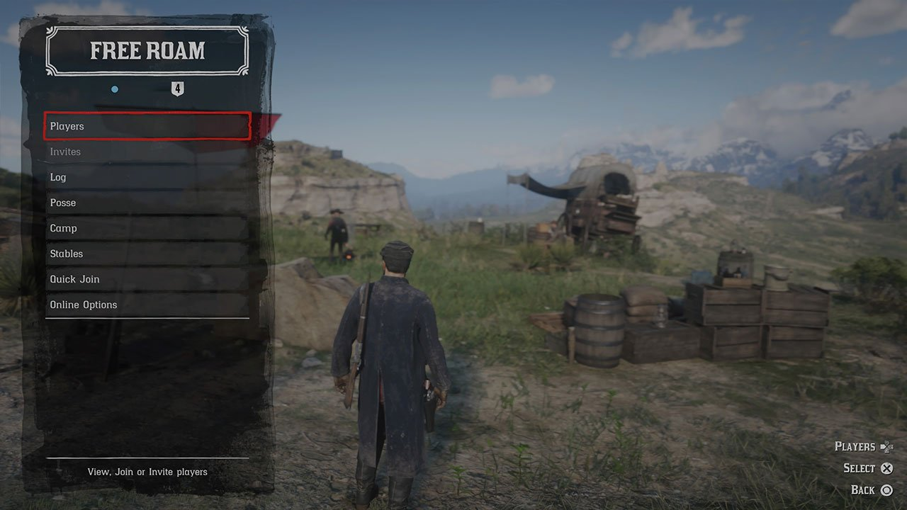 open players menu