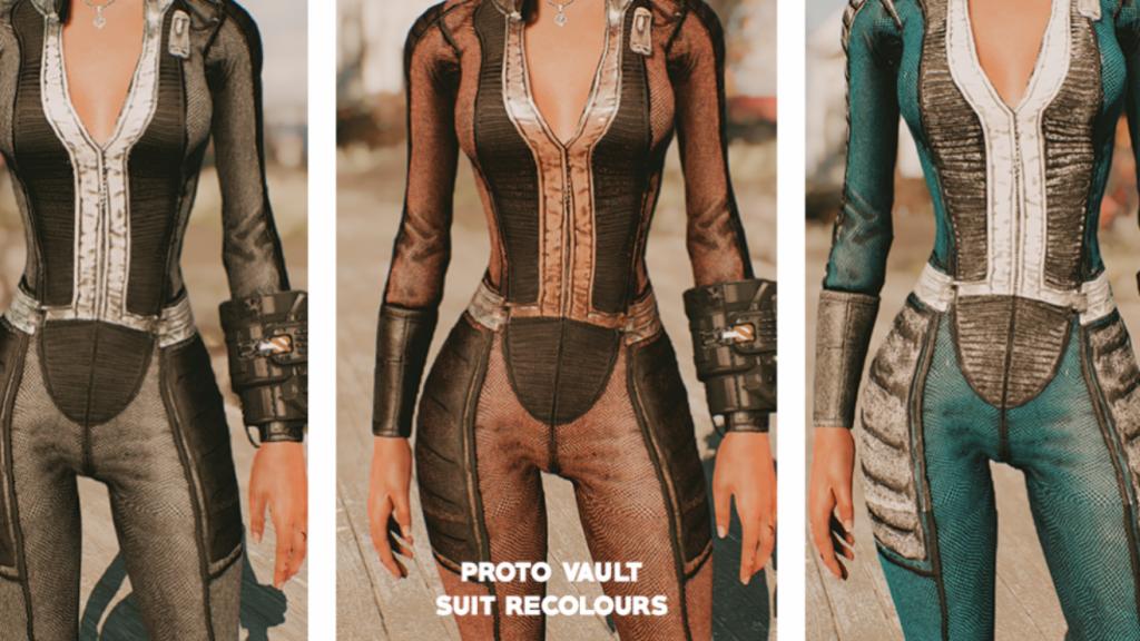 unzipped vault suit