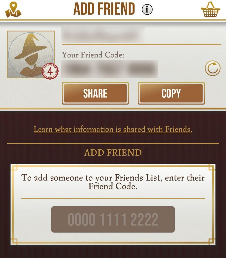 add friend menu