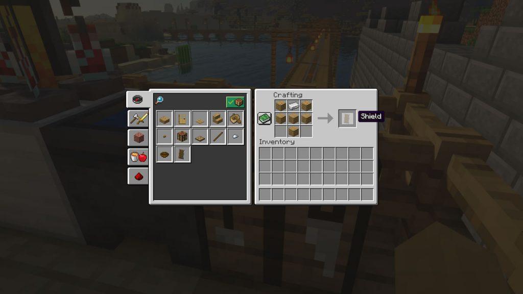 minecraft shield recipe