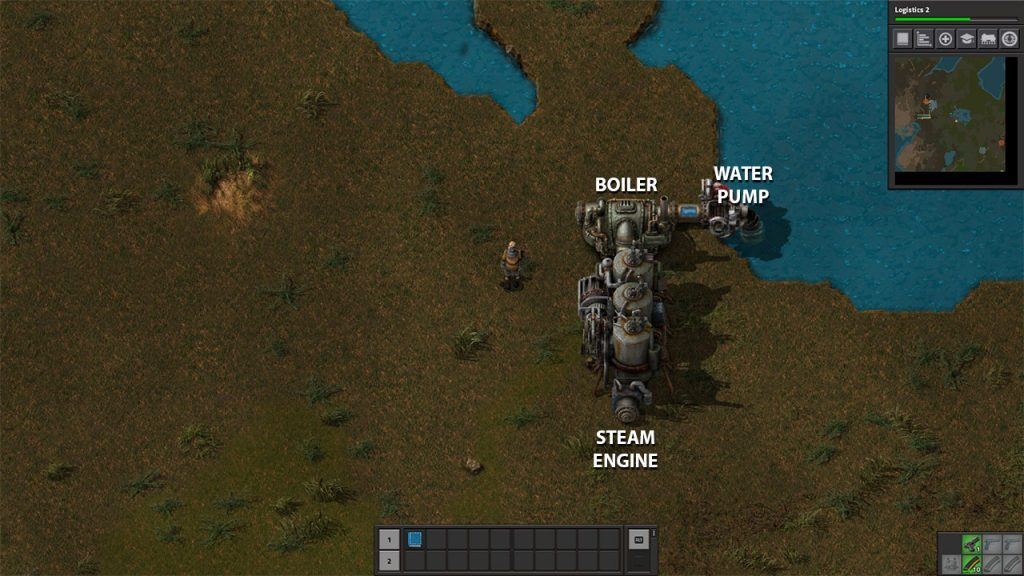 factorio steam engine setup