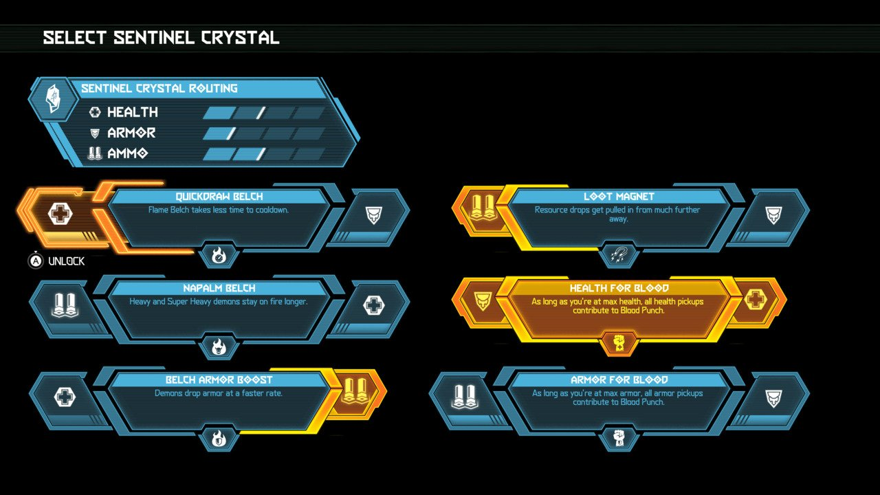 Doom Eternal Sentinel Crystal upgrades