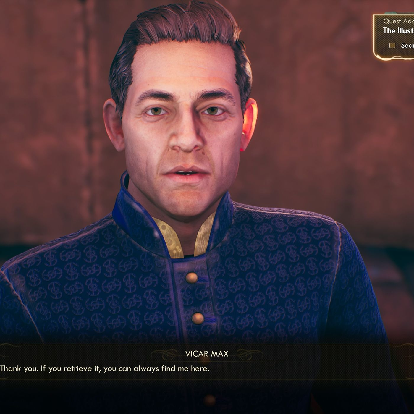 Vicar Max Dialogue, The Outer Worlds