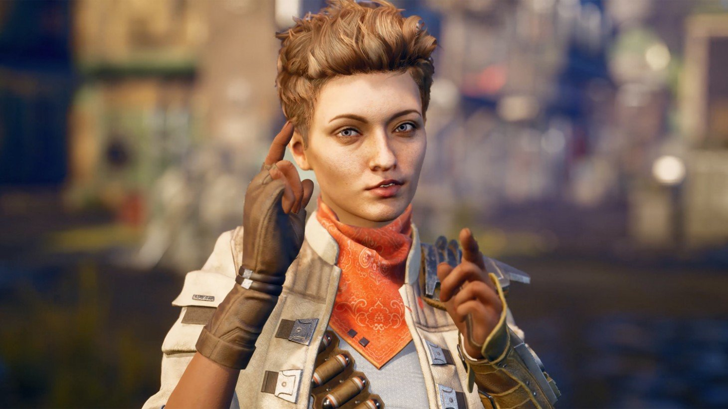 The Outer Worlds Ellie Posing