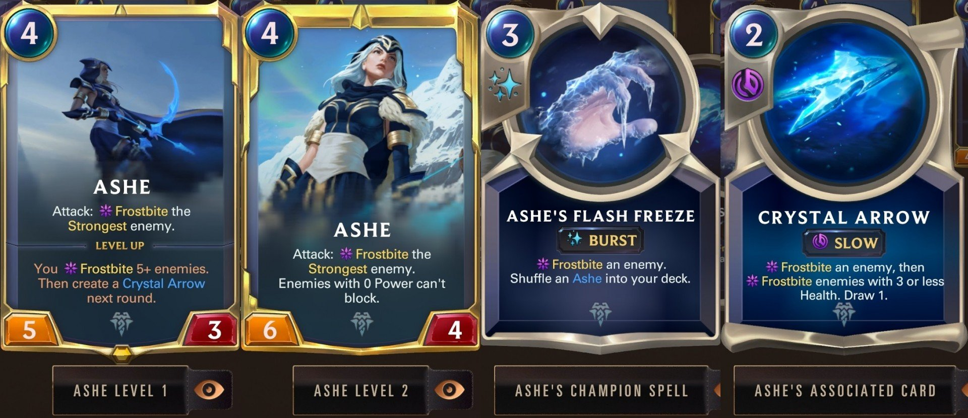 Legends Of Runeterra Ashe Champion Card