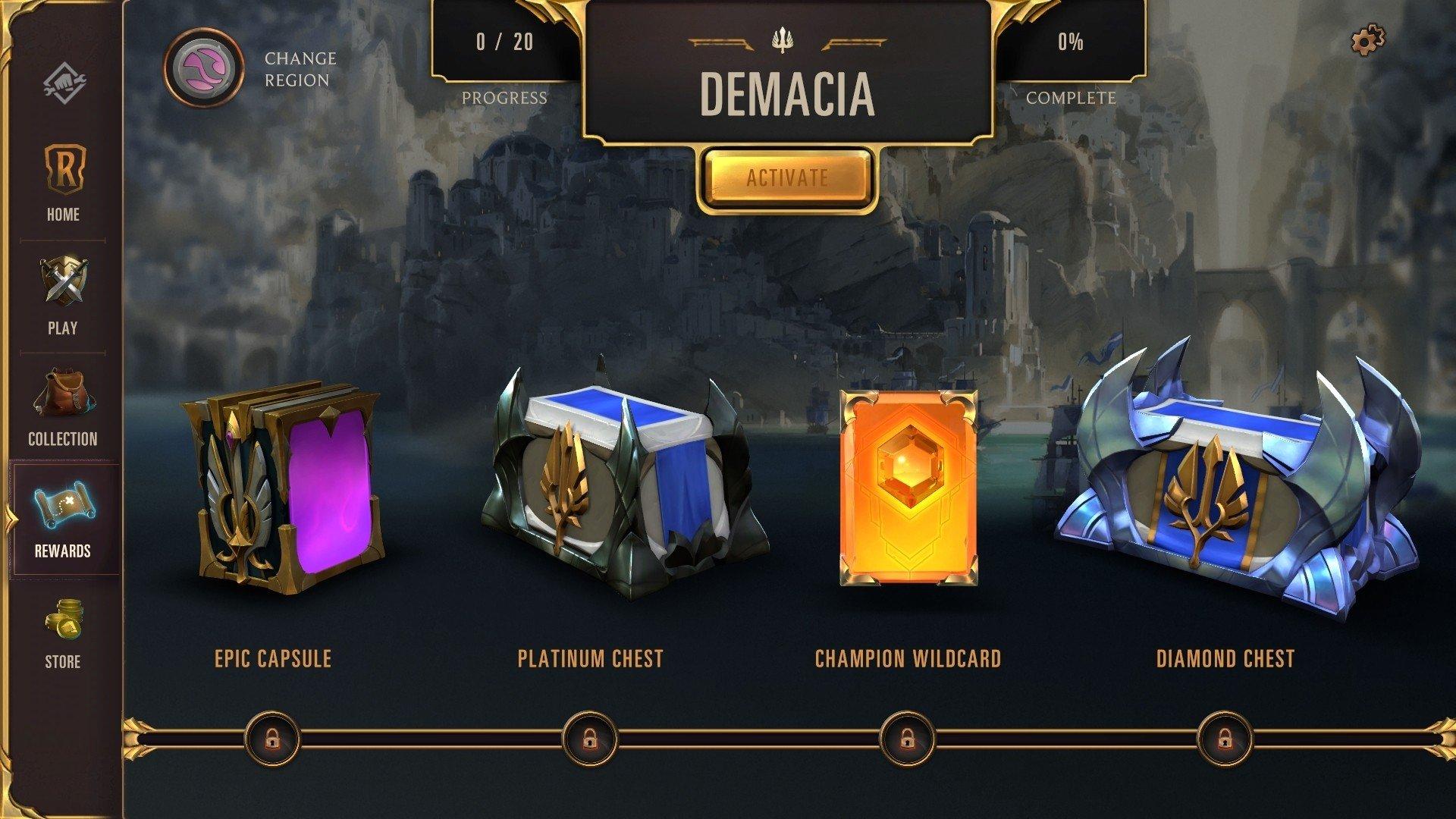 Legends of Runeterra chests