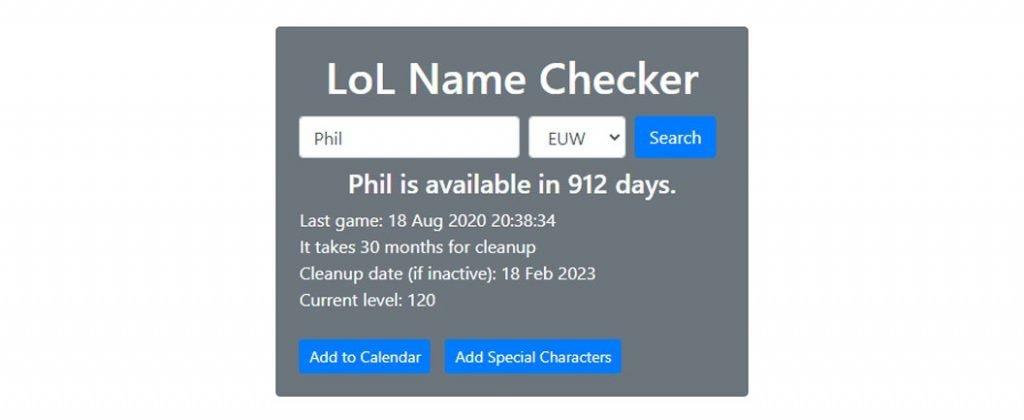 lol name checker