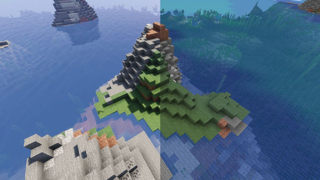 shaders before and after